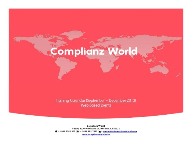 Complianz World #1119, 2220 W Mission Ln., Phoenix, AZ 85021  +1 866 978 0800 |: +1 888 883 7697 |  : contactus@complia...