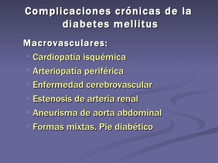 Complicaciones crónicas de la diabetes