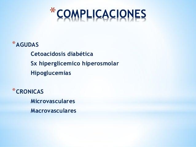 Complicaciones cronicas de la diabetes mellitus