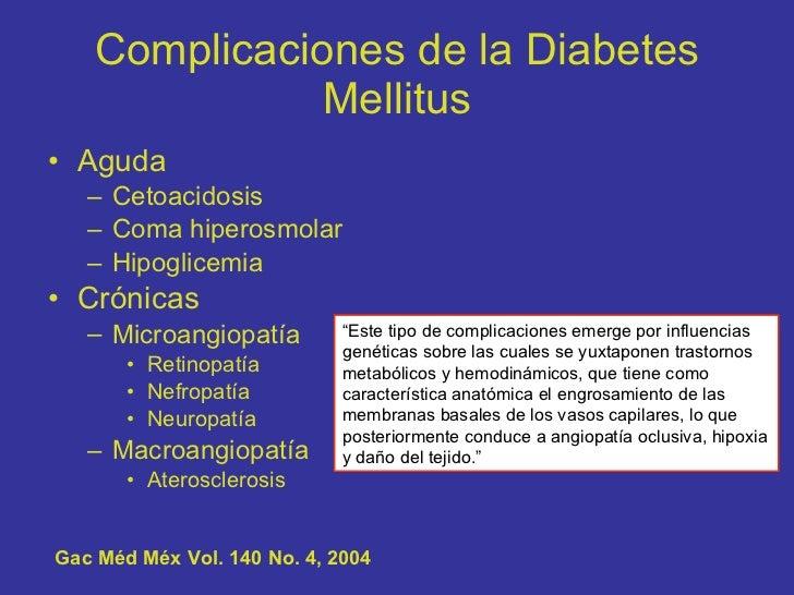Complicaciones cronicas de la diabetes mellitus hesv