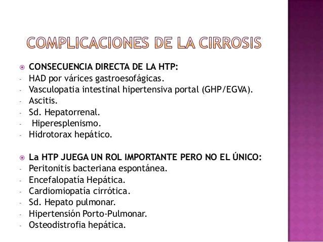 Complicaciones pulmonares de la cirrosis