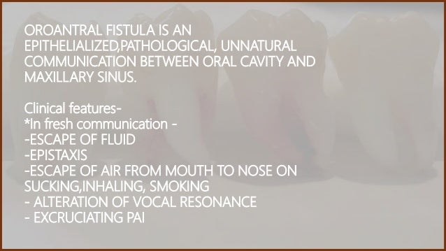 oral antral communication post op instructions
