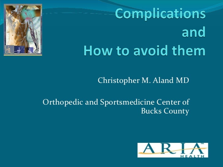 Christopher M. Aland MD Orthopedic and Sportsmedicine Center of Bucks County