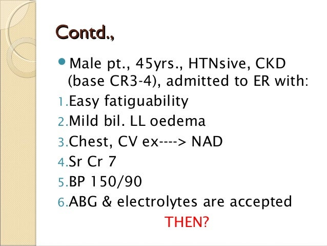 Complications of hemodialysis Slide 3