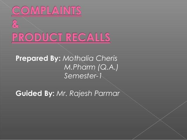 Prepared By: Mothalia Cheris             M.Pharm (Q.A.)             Semester-1Guided By: Mr. Rajesh Parmar