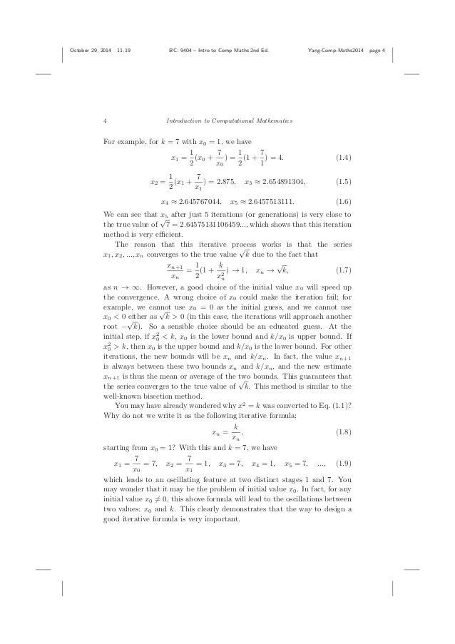 introduction to computational mathematics pdf