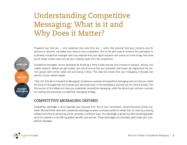 Why Us A Guide To Competitive Messaging