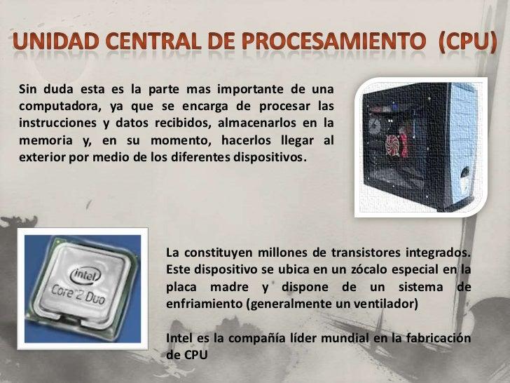 Componentes Basicos De Una Computadora Informatica 1