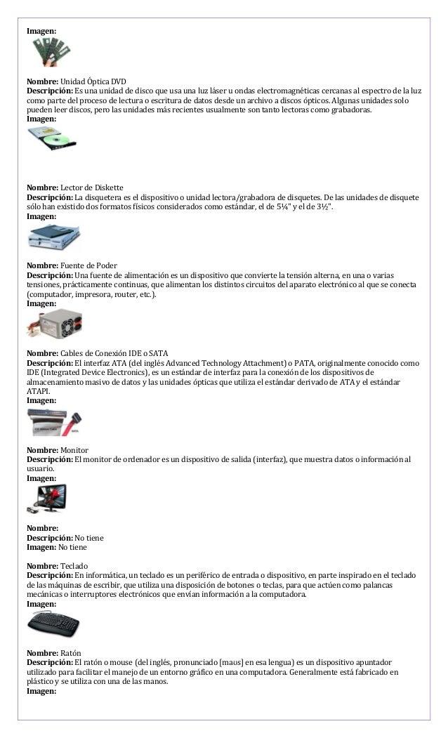 Imagen: Nombre: Unidad Óptica DVD Descripción: Es una unidad de disco que usa una luz láser u ondas electromagnéticas cerc...