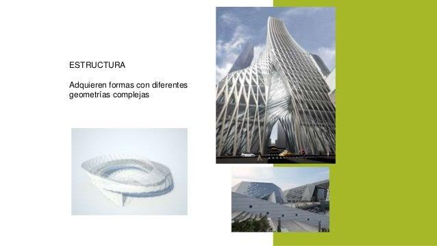 ESTRUCTURA  Adquieren formas con diferentes  geometrías complejas