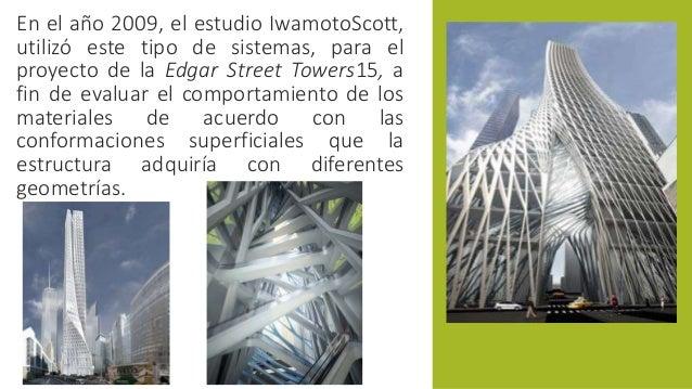En el año 2009, el estudio IwamotoScott,  utilizó este tipo de sistemas, para el  proyecto de la Edgar Street Towers15, a ...