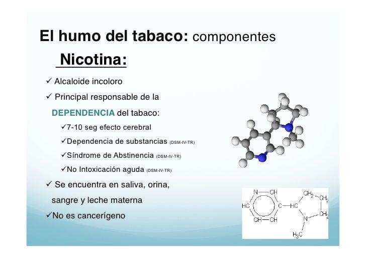 La patogenía de la dependencia de nicotina
