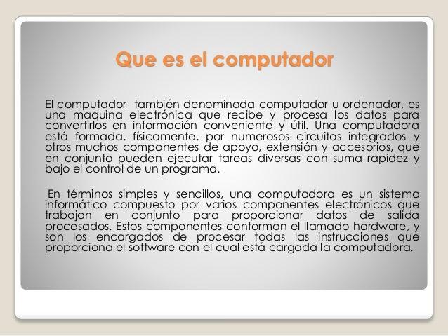 Componentes de un computador Slide 2