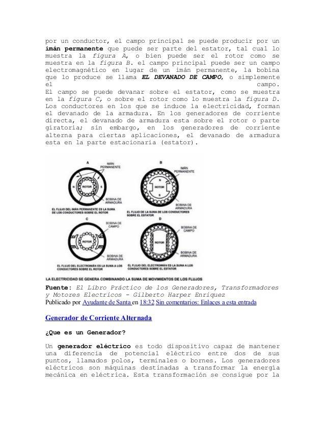 Componentes de un generador de corriente alterna - Generador de corriente ...