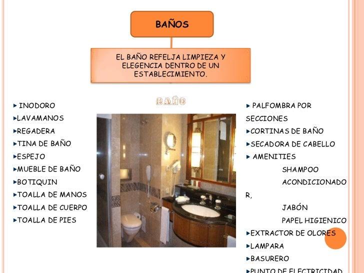 Componentes de un hotel for Elementos para el bano