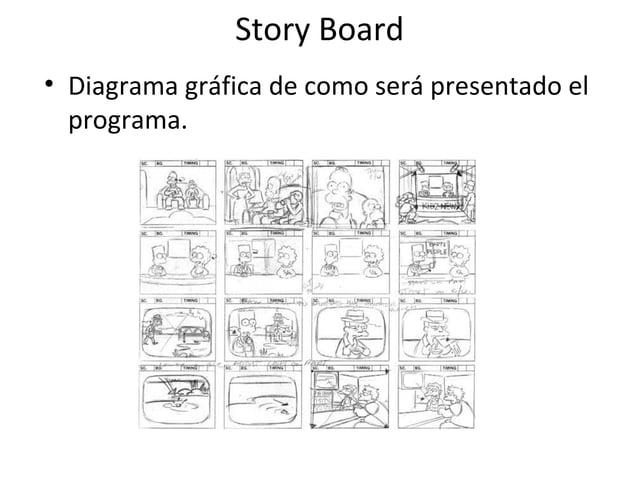 Story Board  • Diagrama gráfica de como será presentado el  programa.