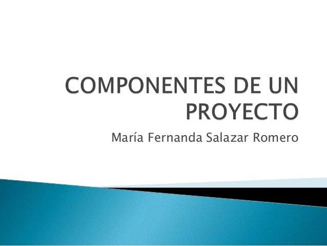 María Fernanda Salazar Romero