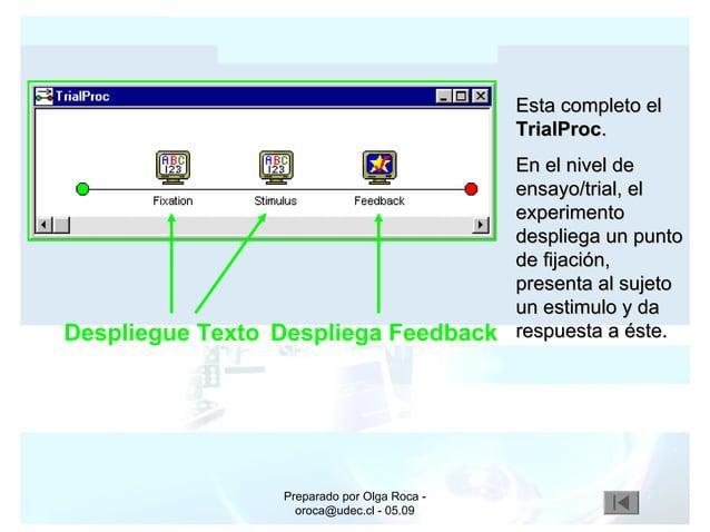 Preparado por Olga Roca - oroca@udec.cl - 05.09 Esta completo elEsta completo el TrialProcTrialProc.. En el nivel deEn el ...