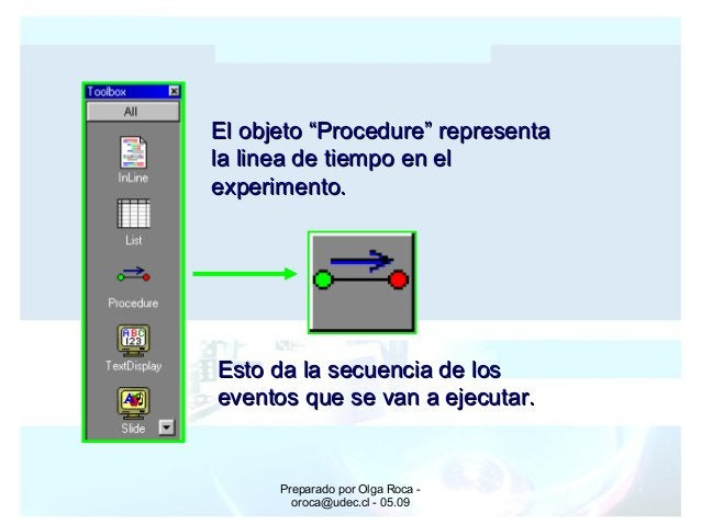 Preparado por Olga Roca - oroca@udec.cl - 05.09 Esto da la secuencia de losEsto da la secuencia de los eventos que se van ...