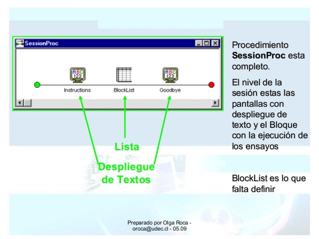 Preparado por Olga Roca - oroca@udec.cl - 05.09 ProcedimientoProcedimiento SessionProcSessionProc estaesta completo.comple...