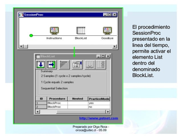 Preparado por Olga Roca - oroca@udec.cl - 05.09 El procedimientoEl procedimiento SessionProcSessionProc presentado en lapr...