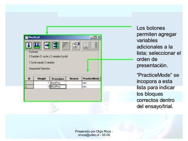 Preparado por Olga Roca - oroca@udec.cl - 05.09 Los botonesLos botones permiten agregarpermiten agregar variablesvariables...