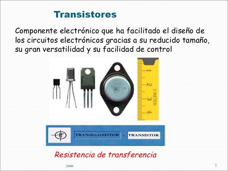 jmm Componente electrónico que ha facilitado el diseño de los circuitos electrónicos gracias a su reducido tamaño, su gran...