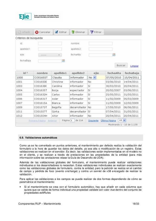 UDA-Componentes RUP  Mantenimiento (v2 1 1 deprecado)