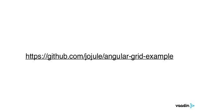 Vaadin Components @ Angular U