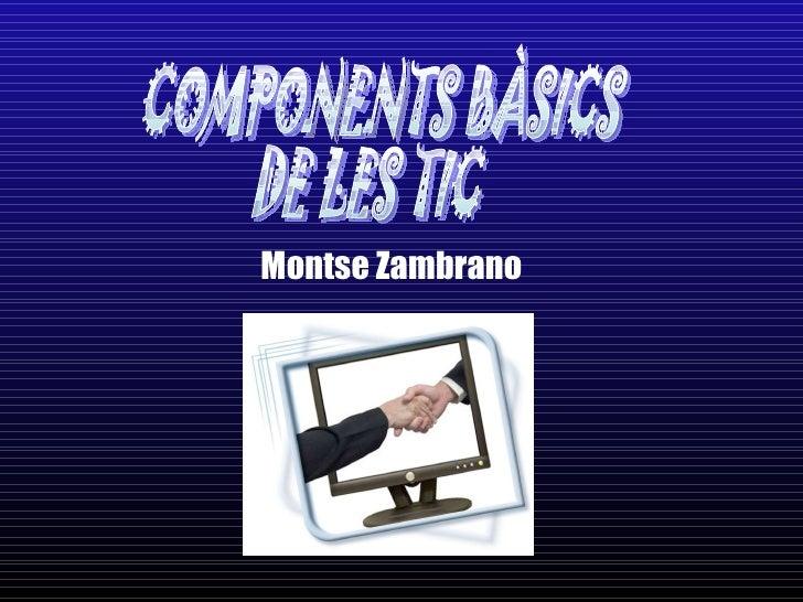 Montse Zambrano COMPONENTS BÀSICS  DE LES TIC