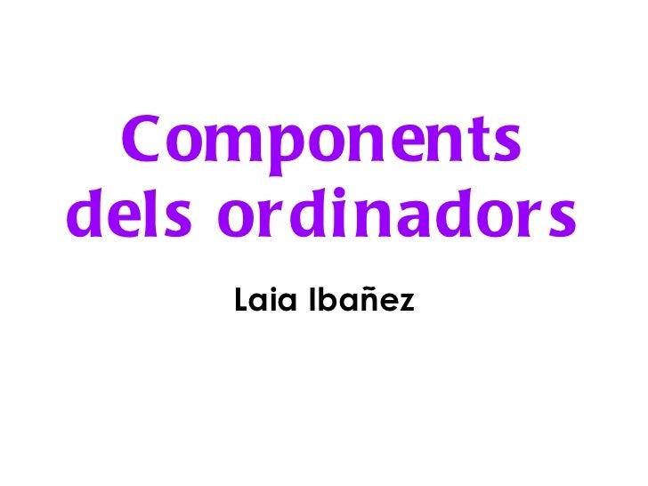Components dels ordinadors Laia Ibañez