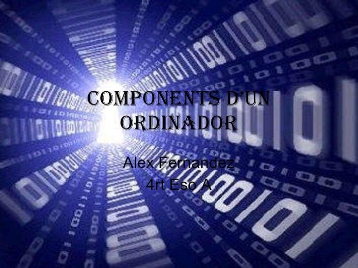 Components d'un ordinador Alex Fernandez 4rt Eso A