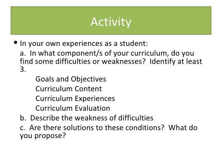 components of curriculum Curriculum components play is at the heart of the active learning curriculum children engage in active learning when they construct knowledge through interactions with materials, people, events, and ideas.