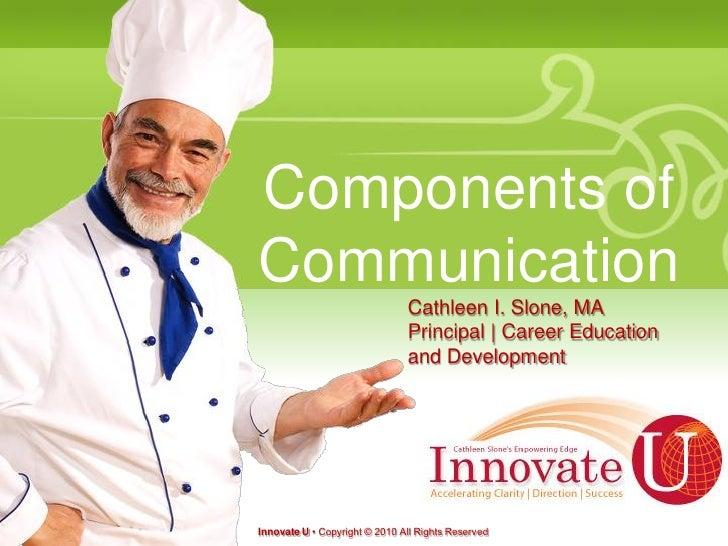 Components ofCommunication                               Cathleen I. Slone, MA                               Principal | C...