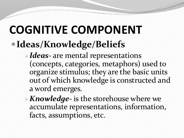 cognitive component example