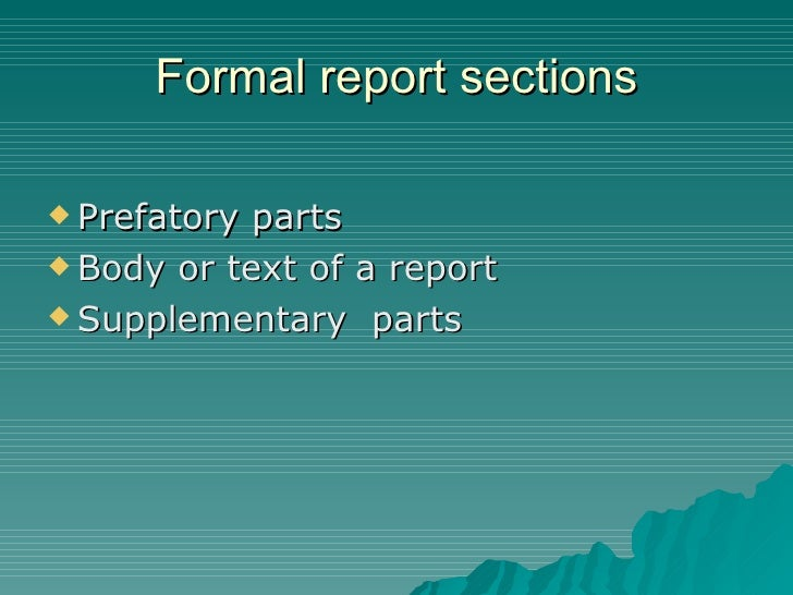 business report definitions