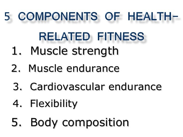 components of physical fitness Overall physical fitness can be maintained only if an individual exercises regularly and leads a healthy lifestyle this buzzle article reveals the 5 main components of physical fitness.