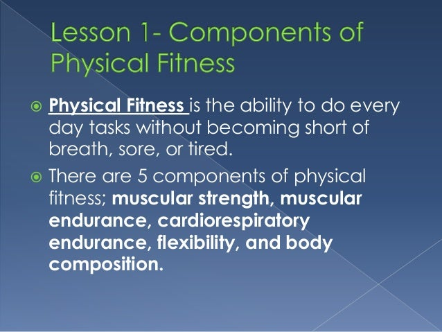 What Are The 2 Components Of Physical Fitness - FitnessRetro
