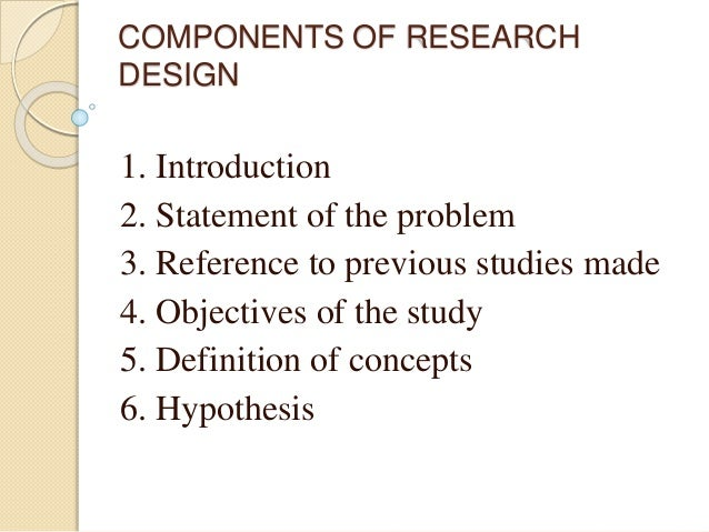 Components of good research