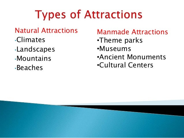 examples of tourist attractions