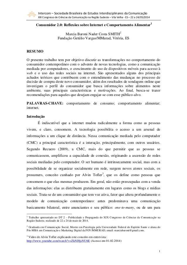 Intercom – Sociedade Brasileira de Estudos Interdisciplinares da Comunicação XIX Congresso de Ciências da Comunicação na R...