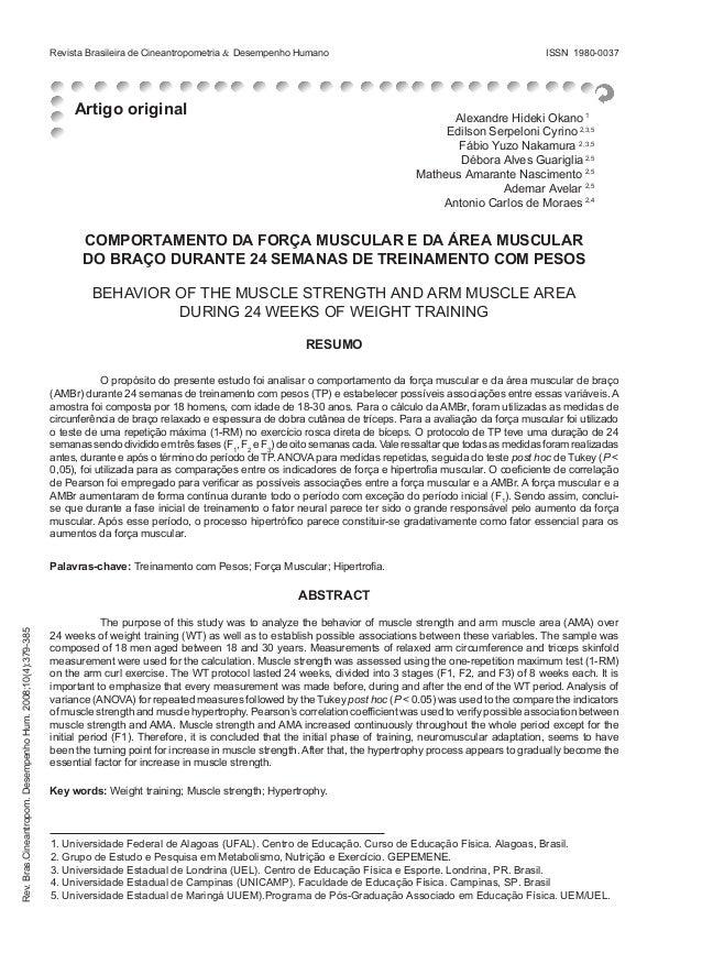 Artigo original Revista Brasileira de Cineantropometria & Desempenho Humano ISSN 1980-0037 Rev.Bras.Cineantropom.Desempen...