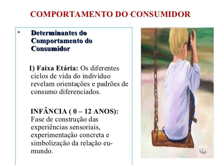 COMPORTAMENTO DO CONSUMIDOR <ul><li>Determinantes do Comportamento do Consumidor </li></ul><ul><li>1) Faixa Etária:  Os di...