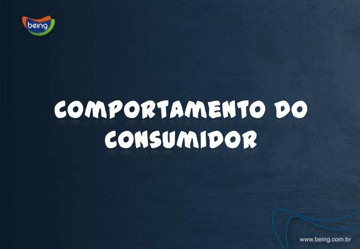 Comportamento do Consumidor<br />