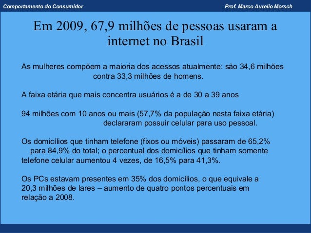 Comportamento do Consumidor                                     Prof. Marco Aurelio Morsch          Em 2009, 67,9 milhões ...