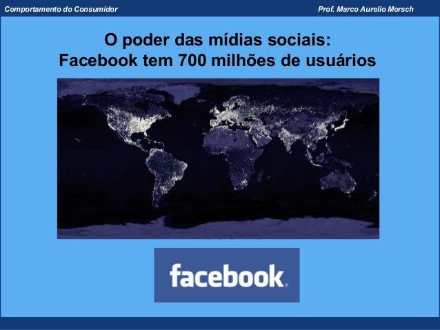 Comportamento do Consumidor              Prof. Marco Aurelio Morsch                 O poder das mídias sociais:           ...