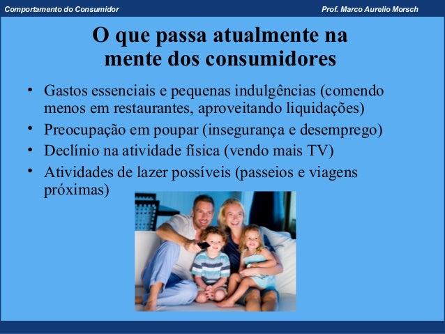 Comportamento do Consumidor                    Prof. Marco Aurelio Morsch                    O que passa atualmente na    ...