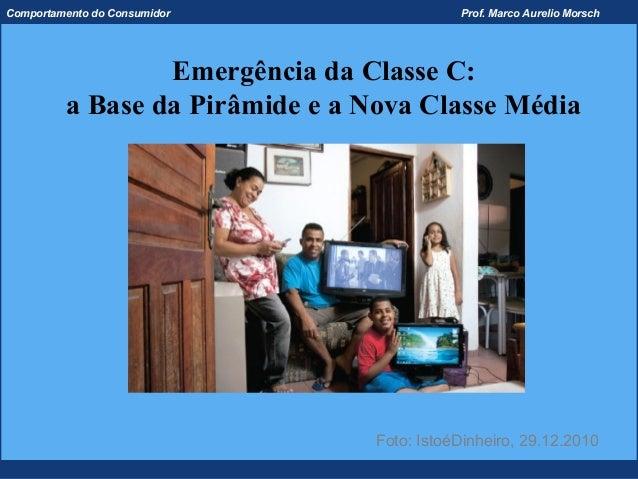 Comportamento do Consumidor                 Prof. Marco Aurelio Morsch                 Emergência da Classe C:         a B...