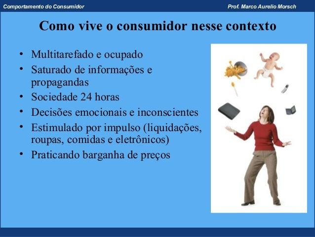 Comportamento do Consumidor                   Prof. Marco Aurelio Morsch           Como vive o consumidor nesse contexto  ...