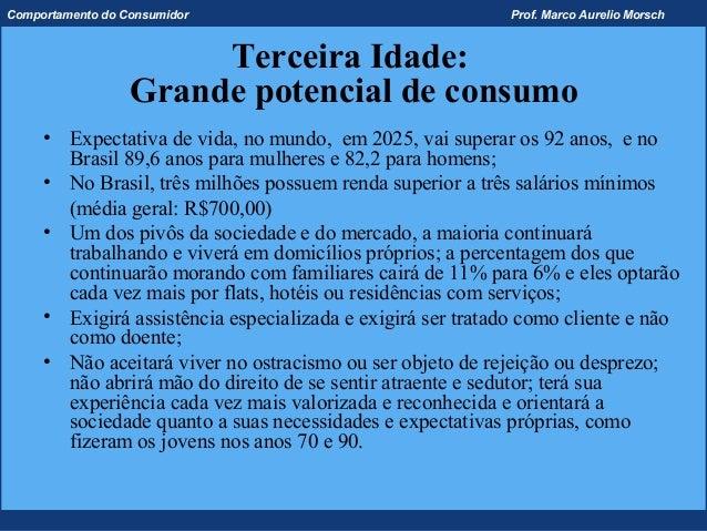 Comportamento do Consumidor                                 Prof. Marco Aurelio Morsch                       Terceira Idad...